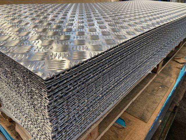 Chapas xadrez alumínio piso, baú, vans e trailers  - Foto 2