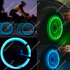 2 Pitos De Led, Bico Para Bicicleta, Carro e Moto efeito Neon Válvula