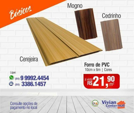 Forro de PVC 10cm - Cerejeira/Mogno/ Cedrinho