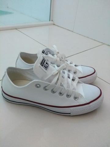 41da530d4f3 All Star Couro Branco 35 - Roupas e calçados - Centro