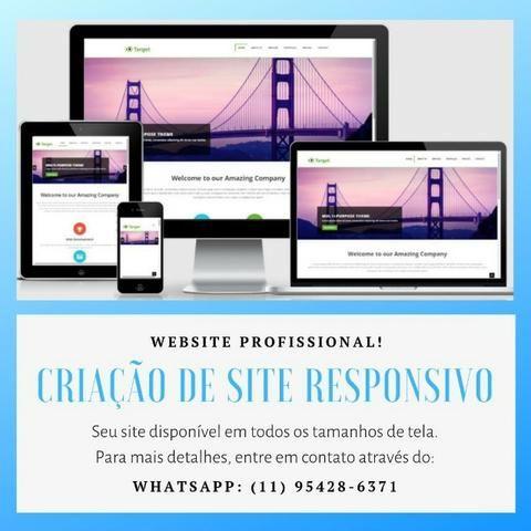 fe5529927 Criação de Site Responsivo e Loja Virtual Profissional Apenas R  150 ...