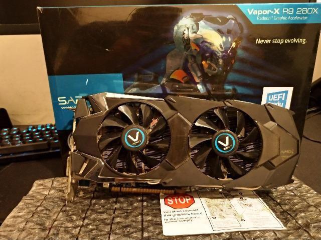 Placa de Vídeo AMD Radeon Sapphire R9 280x Vapor X OC - GPU  1070mhz,3GB,384bits