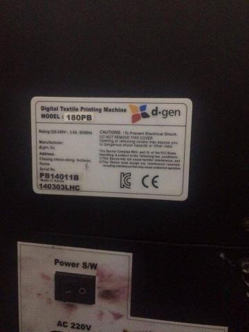 Máquina impressão digital/ sublimação dgen - Foto 4