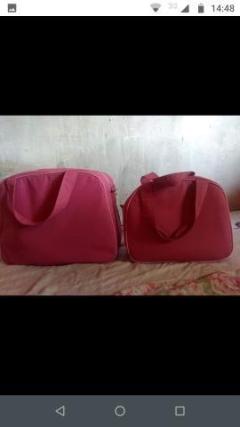 Bolsas maternidade apenas 1 vez usada ( cor rosa ) - Foto 2