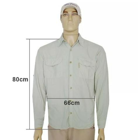Camisa c/ Proteção UV 30+ Ballyhoo Crisis - NOVA - Foto 2