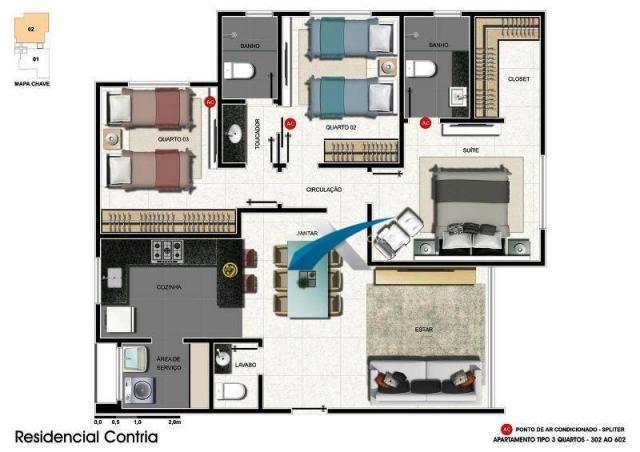 Apartamento à venda 3 quartos barroca - Foto 2