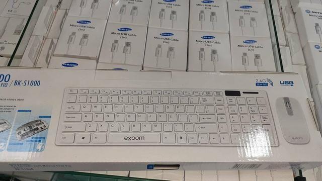 Combo de teclado e mouse sem fio multimídia Abntli exbom ac cartão - Foto 2