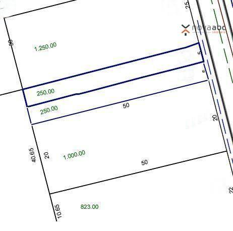 Terreno à venda, 500 m² por R$ 1.365.000 - Casa Branca - Santo André/SP