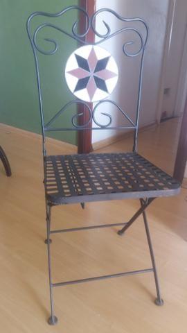 Conjunto Mesa Bistrô Mosaico Com Duas Cadeiras - Foto 3