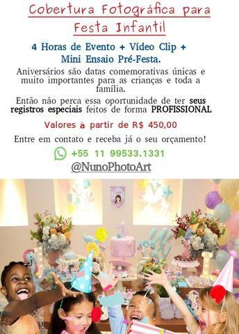 Fotografia para festas infantis