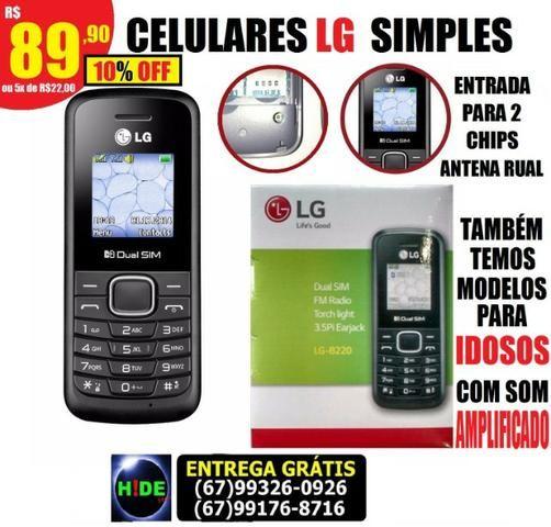 Celular simples LG B220 2 chip novo (entrega grátis)