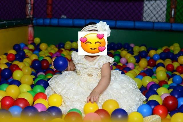 Vestido de Festa Princesa, bordado a mão