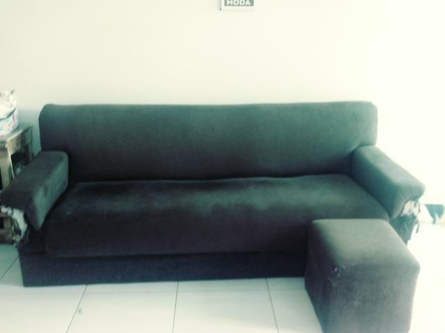 Sofa e puff para doação - Foto 4