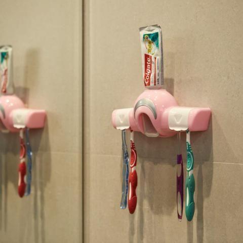 Dispenser para Creme Dental e Porta Escovas REF 2860 - Foto 3