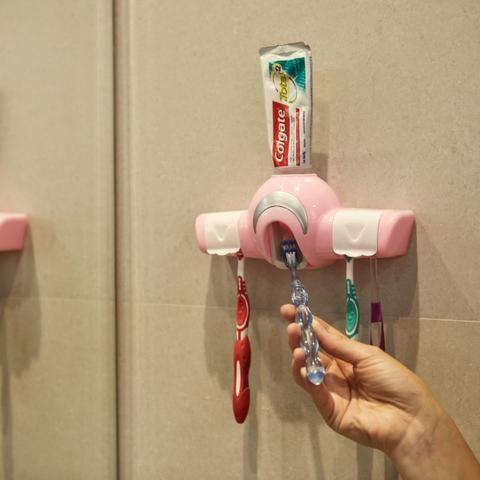Dispenser para Creme Dental e Porta Escovas REF 2860 - Foto 5