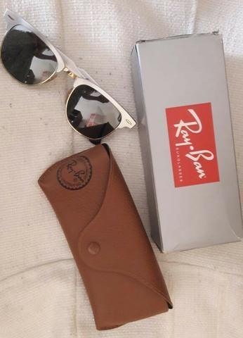 Óculos Ray.ban Clubmaster aluminium original - Bijouterias, relógios ... abd2b9ca4a