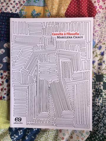 Convite à Filosofia Marilena Chaui Editora ática Novo Livros