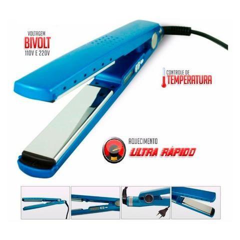 d3fe3697b Chapinha Nano Titanium Blue Profissional Bivolt 1 1/4 até 450ºf 230ºC