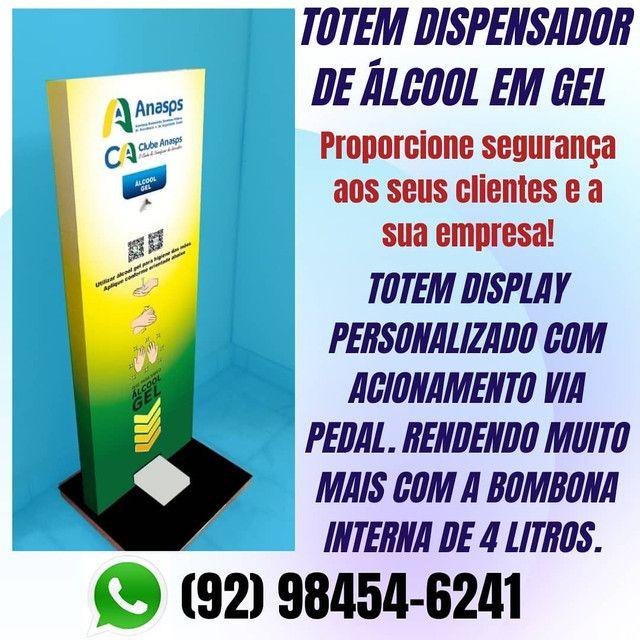 Totem dispenser para álcool em gel (padrão) - Foto 3