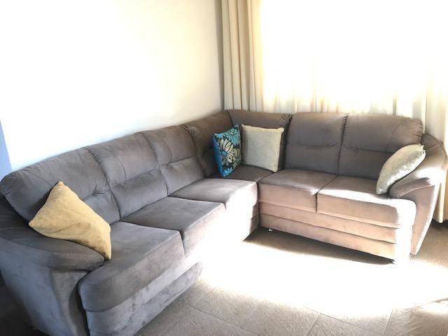 Sofá de canto tecido suede usado - Foto 3