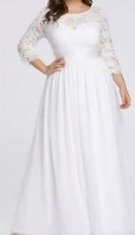 Vestido de Noiva com véu - Foto 3
