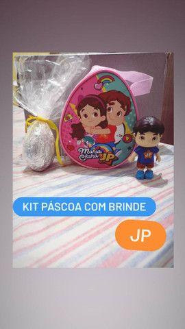 Kit de Páscoa Infantil com Sacolinha, Ovo, Bombons e Brinde - Foto 2