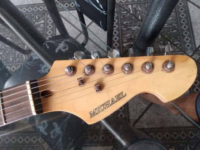 Guitarra Michael Strato - ACEITO CARTÃO - Foto 3