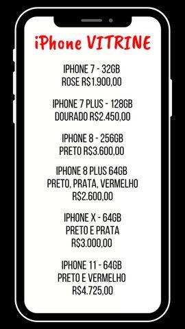 iPhones de Vitrine - 3 meses de garantia  - Foto 5