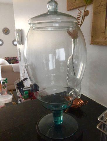 Recipiente de vidro 3,5litros c/torneira - Foto 2