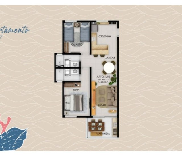 Flat para venda possui 32 metros quadrados com 1 quarto em Muro Alto - Ipojuca - PE - Foto 9