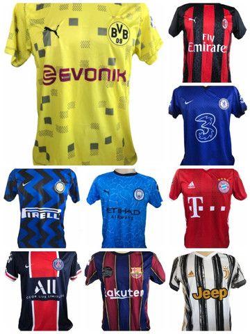 Kit 09 Camisas De Times De Futebol (bordada) Europeu! - Foto 4