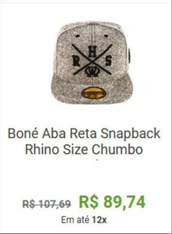 8e7fdf6c0d Boné Aba Reta - novo - Bijouterias, relógios e acessórios - Belo ...
