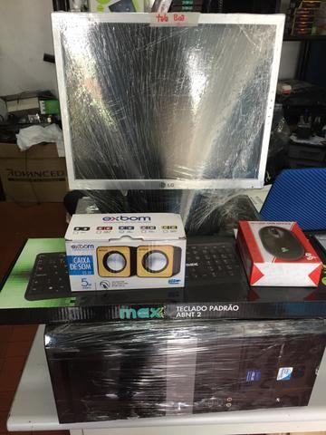 Computador completo só 599,00 tudo com garantia ideal para qualquer comercio