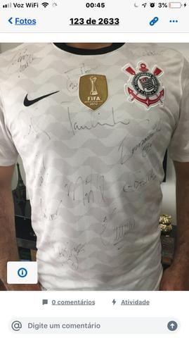 Camisa Oficial de 2012 do Corinthians Autografada - Foto 2