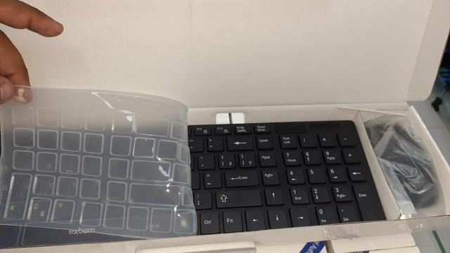 Combo de teclado e mouse sem fio multimídia Abntli exbom ac cartão - Foto 3