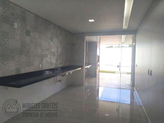 Linda casa nova moderna de alto padrão em rua 06 Vicente Pires - Foto 12