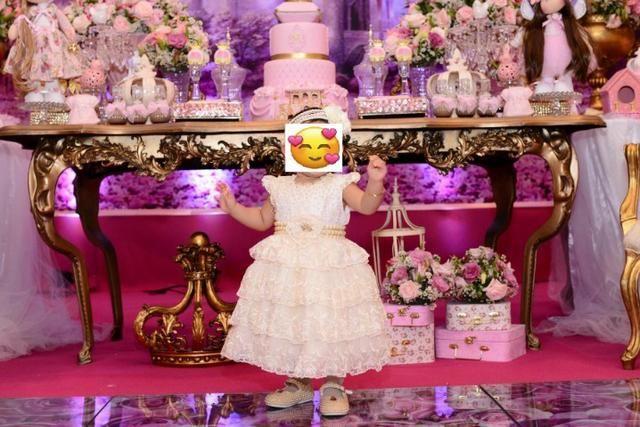 Vestido de Festa Princesa, bordado a mão - Foto 3