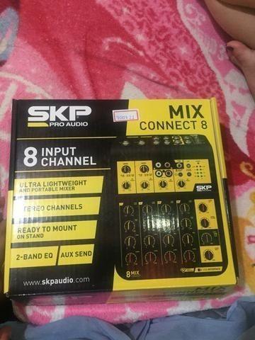Mesa de Som Skp Connect 8 Canais de Entrada Mix ( Nova - Parcelo no catão)