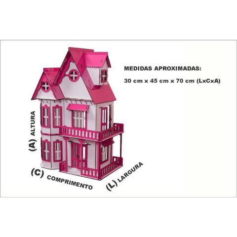 Casinha de Bonecas Escala Polly Modelo Mirian Sonhos - Darama - Nova - Foto 2