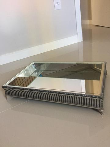 Linda bandeija de aço espelhada - Foto 2