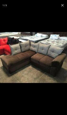 Sofá de canto aconchegante novo com várias cores disponiveis - Foto 6