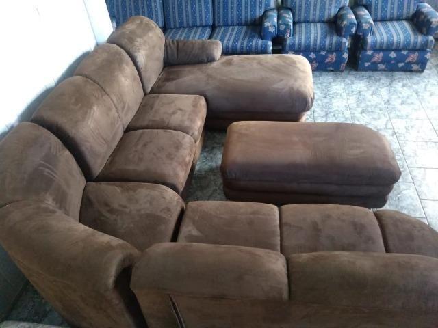Sofá de canto c/ puff e chaise - 2,90 x 2,50 - entrego!