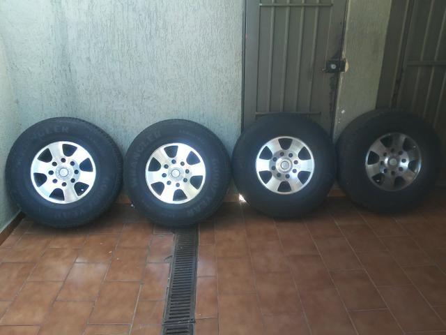 Rodas f250 com pneus goodyear