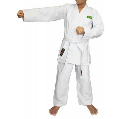 Kimono Karatê infantil M3 Branco produtos novos e embalados - Foto 3