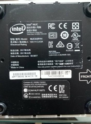 Mini pc intel nuc e monitor tv smart lg