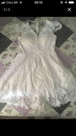 Vestido branco curto - Foto 3