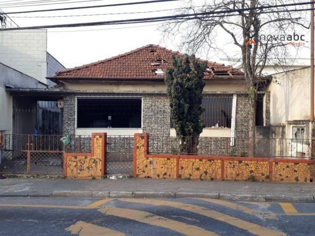 Terreno à venda, 313 m² por R$ 1.272.000 - Vila Guaraciaba - Santo André/SP