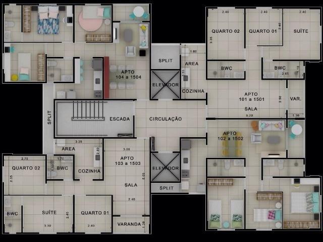 Apartamento pronto para morar no cordeiro - Lazer completo - Piso em porcelanato - Foto 9
