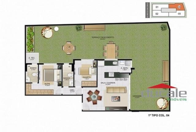 Davi Amarante Apartamento 2 quartos suíte em Bento Ferreira - Foto 15