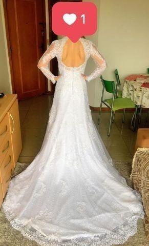 95d1fc51f Lindíssimo Vestido de Noiva em Estado de Novo